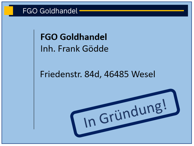 Kontaktinformation Goldhandel